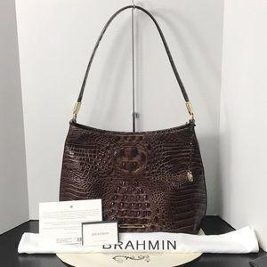 BRAHMIN NEW Farrah CHESTNUT MELBOURNE Leather
